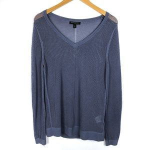 Banana Republic Periwinkle V Neck Knit Sweater